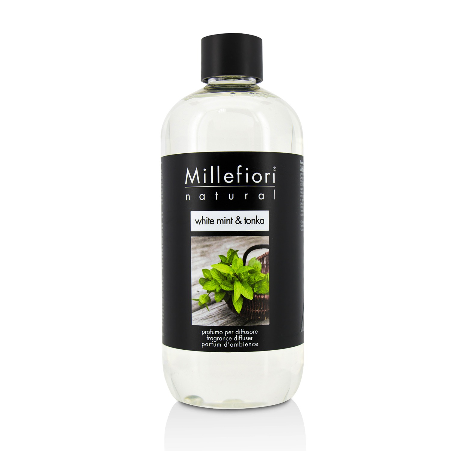 Millefiori Natural Fragrance Diffuser Refill White Mint & Tonka/16 9oz